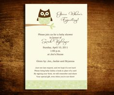 Guess Whoo Unisex Owl Baby Shower Invitation  by SweetCartolina, $20.00