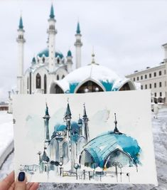 Watercolor architecture is part of architecture - Watercolor architecture by taisiya kovali illustration inspiration Watercolor Sketchbook, Watercolor Artwork, Art Sketchbook, Watercolor Illustration, Sketch Painting, Simple Watercolor, Tattoo Watercolor, Watercolor Trees, Watercolor Animals
