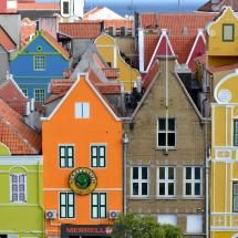 "Willemstad, Curacao.  Curacao (located off the coast of Venezuela)  is a ""constituent country of the Kingdom of the Netherlands"""