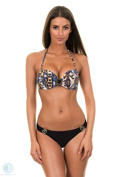 651401ef608 This black micro bikini, also known as thong, with a animal and mix of