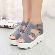 57f05ace4877 Lolittas Women Ladies Summer Gladiator Diamante Sandals Wedge Platform High  Block Heel Strappy Open Toe Slingback Comfortable Outdoor Wedge Shoes Size 2-6  ...