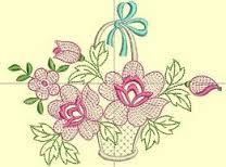 modelos de cesta de flores para pintar - Buscar con Google