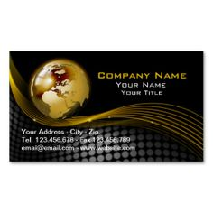 Gold and black Business Card. Make your own business card with this great design. All you need is to add your info to this template. Click the image to try it out!