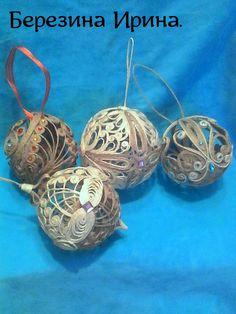 Новогодние шарики.Березина Ирина.
