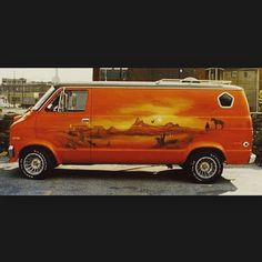 Custom 70's Dodge van