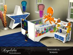Features a brand new kind of crib for TWINS!!! Found in TSR Category 'Sims 3 Nursery Sets'
