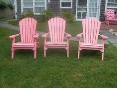I love the idea of some pink Adirondack chairs!  Think I will have to go in search.....
