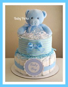 Baby Boy Diaper Cakes | Baby Boy Diaper Cake by MsPerks on Etsy