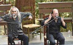 Cantaor José Méndez with Luis de la Tota, both from Jerez de la Frontera at Sunday in Sevila. Bay Area Flamenco Festival 10th Anniversary fundraiser