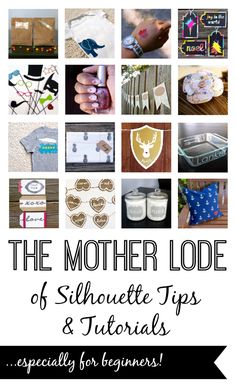 The Mother Lode of Silhouette Tips & Tutorials...with over 50 tutorials geared toward beginners!  This resource is AMAZING.