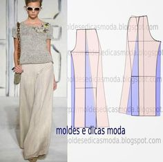 Moldes Moda por Medida: MOLDE DE CALÇAS - 12