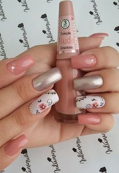 98 cute nail art designs to welcome summer page 19 98 cute nail art designs to welcome summer page 19 Fabulous Nails, Gorgeous Nails, Cute Nails, Pretty Nails, Pink Nails, My Nails, Cute Nail Art Designs, Crazy Nails, Nagel Gel