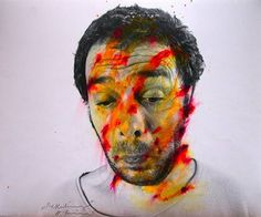 Arnulf Rainer, Face Farces, 1972, mixed media, photo overpainted, h: 60 x w: 50 cm