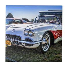 Vintage Car Ceramic Tile