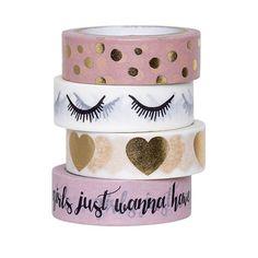 Bloomingville masking tape set van 4 powder gold