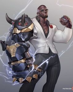 Overwatch Doomfist, Doom Fist Overwatch, Game Character, Character Design, Terry Crews, Black Comics, 2nd Anniversary, Step By Step Painting, Shadowrun