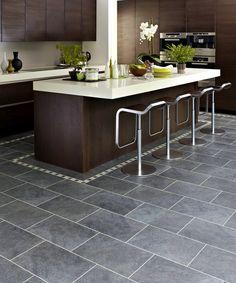 dark grey kitchen floor tiles outofhome slate floors modern design in gray white - Slate Floor Tiles