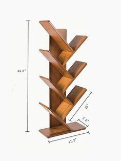 Simple ideas for DIY shelving - Diy Möbel Diy Furniture Plans, Diy Furniture Projects, Home Decor Furniture, Wood Projects, Woodworking Projects, Woodworking Plans, Creative Bookshelves, Bookshelf Design, Tree Bookshelf