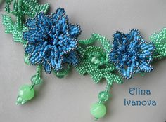 Flower necklace Summer cool exclusive handmade by Elinawonderland