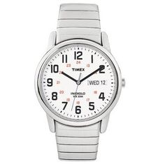 Men's Timex Easy Reader Watch  -  good for work?  $28, expansion band, indiglo, good reviews.         lj
