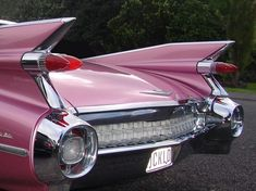 Pink Cadillac---my neighbors owned a car just like this. Here's to Harold & Elsa ! They also had the most beautiful gardens and a goldfish pond-rare in the 60's. Loved them and their collies---all named Laddie.