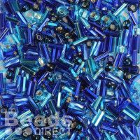 Peacock Blue Seed Bead Mix Sold in 10g Bags