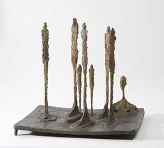 Alberto Giacometti, La Forêt, bronze patiné, 1950.