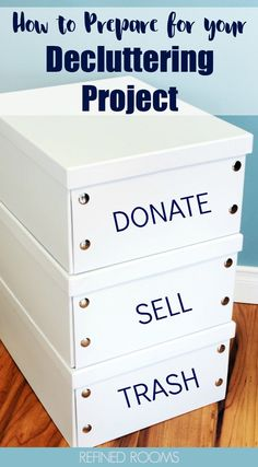 Got a big household decluttering project? Set yourself up for success by completing these decluttering prep work tasks! Prep work makes decluttering & organizing projects easier throughout the year. Home Office Organization, Organizing Your Home, Organizing Tips, Organization Ideas, Decluttering Ideas, Clutter Organization, Household Organization, Organising, Storage Ideas