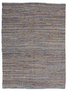 Jeans Rug Blue matto farkkumatto ylijäämäkangas juutti 170 x 230 cm 150,-