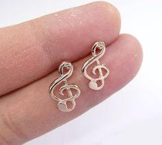 Rose gold plated charm Ear rings charm ear stud by artstudio88