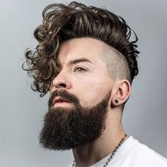 Hairstyles For Long Curly Hair Men New Mens Hairstyles For Curly Hair Undercut Curly Hair, Undercut Hairstyles, Long Curly Hair, Men Undercut, Curly Short, Shaved Hairstyles, Thick Hair, Men With Curly Hair, Long Hair Beard
