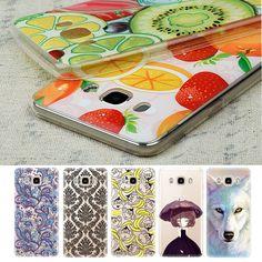 Soft TPU Print Phone Case For Samsung Galaxy Grand Prime G530F J3 J5 J7 A7 A5 A3 2016 J320 J510 J710 Transparent Fruit Cover