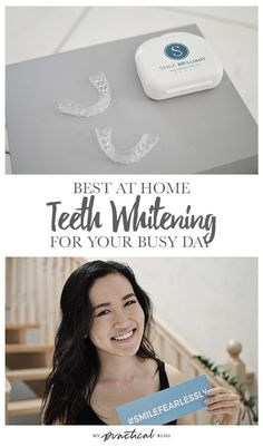 Best At Home Teeth Whitening for Your Busy Day Learn more: https://www.smilebrilliant.com/#mypracticalblog