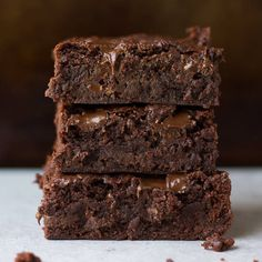 Best Ever Vegan Brownies. These are the best ever vegan brownies hands down! Fudgy perfect squares of chocolate that are easy to make. Vegan Dessert Recipes, Brownie Recipes, Whole Food Recipes, Healthy Desserts, Kid Recipes, Healthy Cooking, Delicious Recipes, Cake Recipes, Recipes