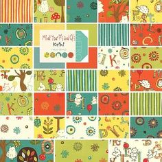 "Moda MIND YOUR Ps AND Qs Precut Fabric 5"" Charm Pack Cotton Quilting Squares Keiki 32710PP: Arts, Crafts & Sewing"