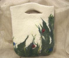 Homemade Wool Felt Handbag - Back of Red Poppies bag by SvetasWoolStory, via Flickr