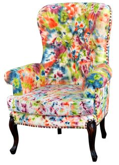 Steven Shell chair. Love the watercolor effect. would go great in my art room!