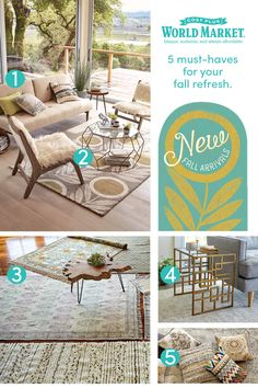 A new season is heading our way and that means one thing – fall room refresh! We've got all the must-haves for easy, affordable updates to really show off your style. www.worldmarket.com #WorldMarket Home Decor