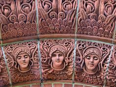 Mary Watt, Cemetery Chapel - interior detail,  Compton, Surrey.