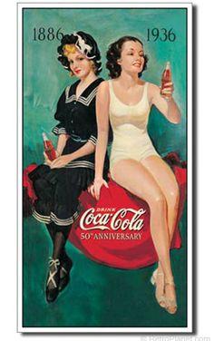 Coca-Cola 50th Bathing Beauties Sign  http://www.retroplanet.com/PROD/36385