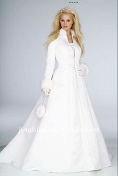 coated lenses on sale at reasonable prices, buy New White Winter Wedding Dress Cloak High Collar Satin Long Sleeve wedding Coat for Bride Plus Size Two Piece Bridal Gown Jacket from mobile site on Aliexpress Now! Winter Wedding Coat, Winter Wedding Colors, Winter Bride, Winter Wonderland Wedding, Winter Weddings, Wedding Summer, Wedding Beach, Winter Theme, Winter Dress Outfits