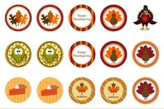 Free Thanksgiving Bottle cap images BCI's