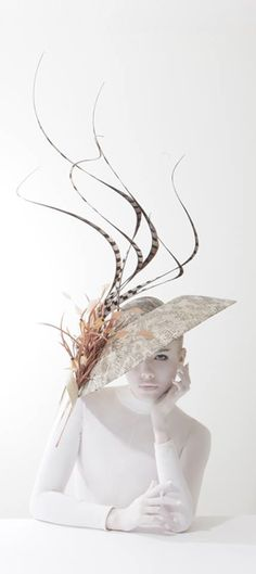 Hat by Philip Treacy from the Spring Summer 2014 collection. Picture by Kurtiss Lloyd. Model: Alexandra Moss.