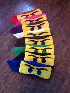 Masks. Easy diy Ninja Birthday, 6th Birthday Parties, 7th Birthday, Birthday Ideas, Lego Ninjago, Ninjago Party, Book Week Costume, Diy Costumes, Diy For Kids