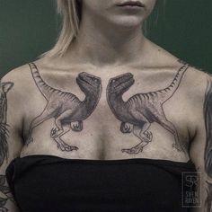 Velociraptor Tattoos by svenrayen