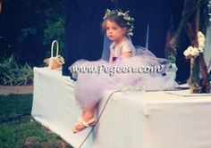 Deep Plum and lavender silk ballerina style FLOWER GIRL DRESSES with layers and layers of tulle