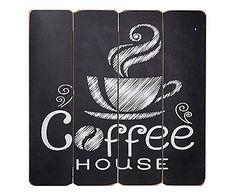 Placa Decorativa Coffee House - 40X40cm