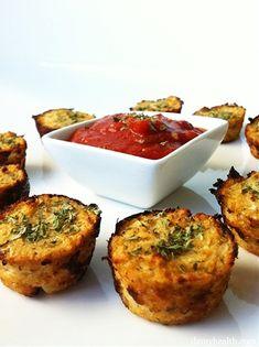 Great (healthier) after school snack! // Cauliflower Pizza Bites