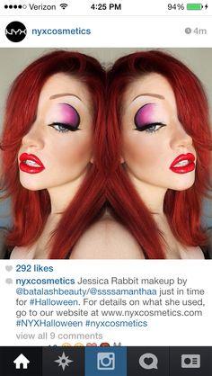 Jessica Rabbit Makeup