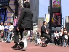 Wow... This device is so interesting! Is this how people will get around in the future? Thoughts? Honda U3-X Personal Mobility Device